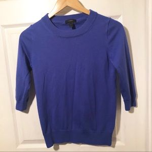 J. Crew Blue Tippi Sweater Classic Solid